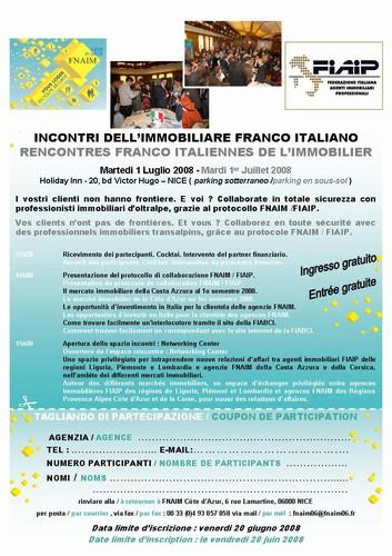 Incontri dell'Immobiliare Franco Italiano