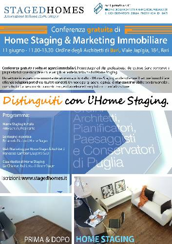 Conferenza gratuita di Home staging a Bari