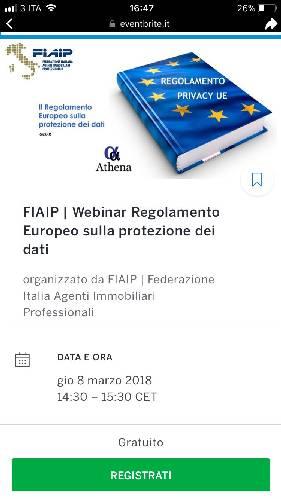 """"""" regolamento Europeo sulla protezione dei dati personali"""""""