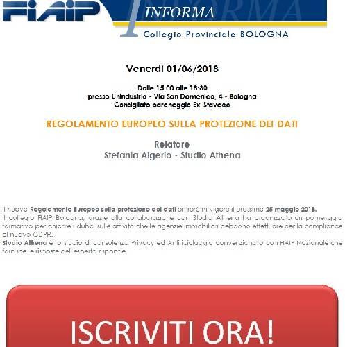 Bologna 1/6  REGOLAMENTO EUROPEO SULLA PROTEZIONE DEI DATI