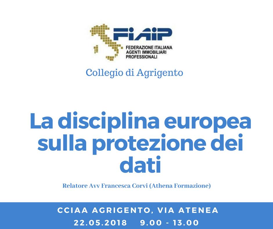 """Collegio di Agrigento, Workshop """"La disciplina Europea sulla protezione dei dati"""""""