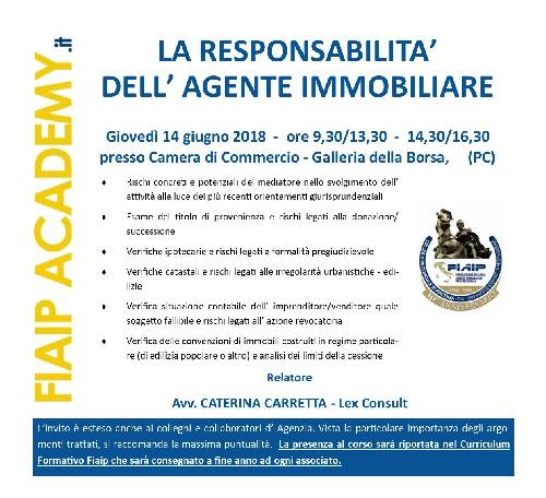 FIAIPAcademy.it |PC 14/06 | LA RESPONSABILITA' DELL' AGENTE IMMOBILIARE