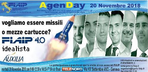 """A Genova Martedi' 20 Novembre Fiaip promuove """"AgenDay"""""""