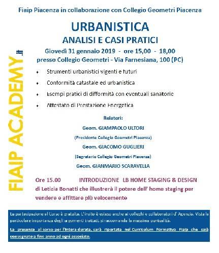 PIACENZA |  Urbanistica – analisi e casi pratici |
