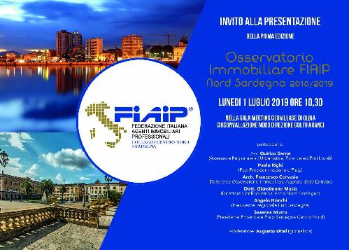 Immobiliare: Ad Olbia Fiaip presenta l'Osservatorio immobiliare del Centro Nord Sardegna