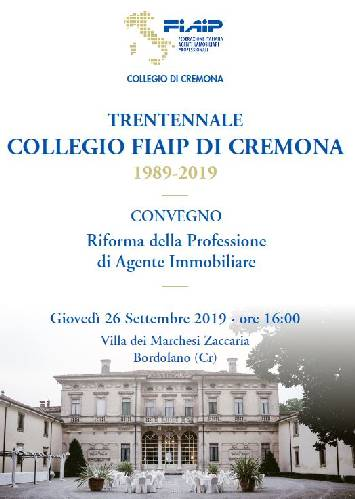 A Cremona Convegno Fiaip sulla riforma della professione dell'Agente immobiliare