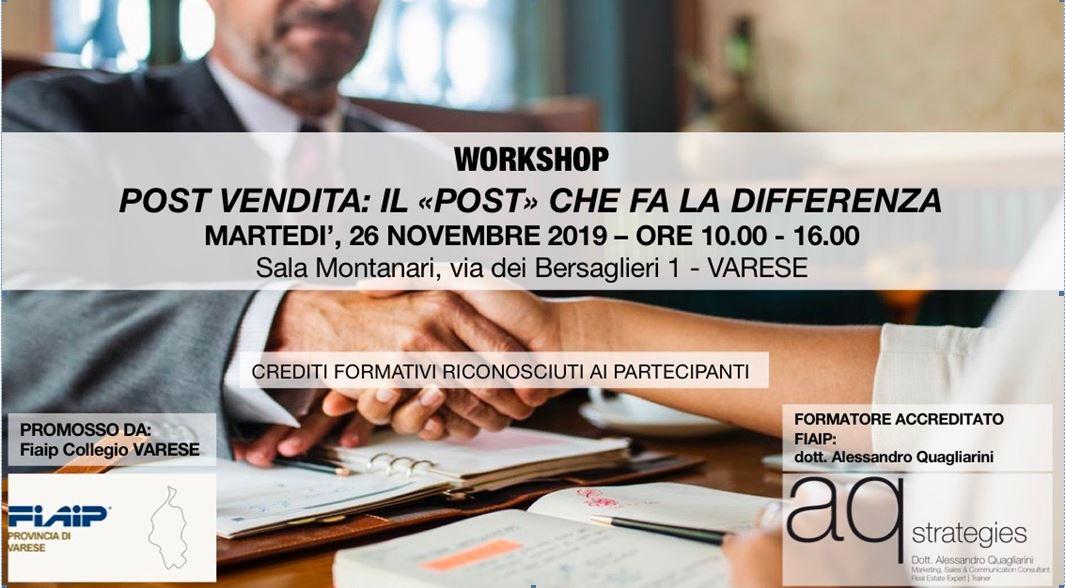 A Varese Corso di Formazione: 'Post-Vendita: il Post che fa la differenza'