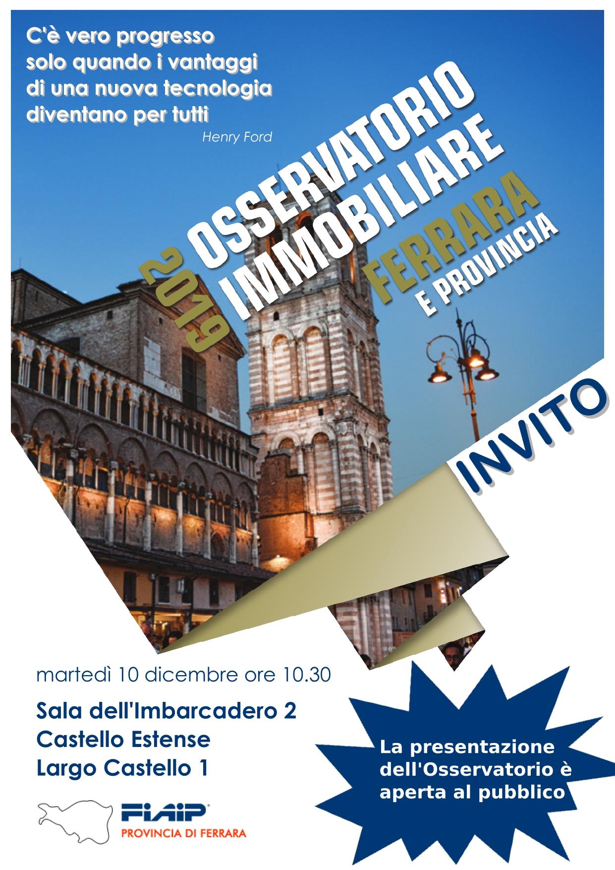 A Ferrara Fiaip presenta l'Osservatorio Immobiliare 2019