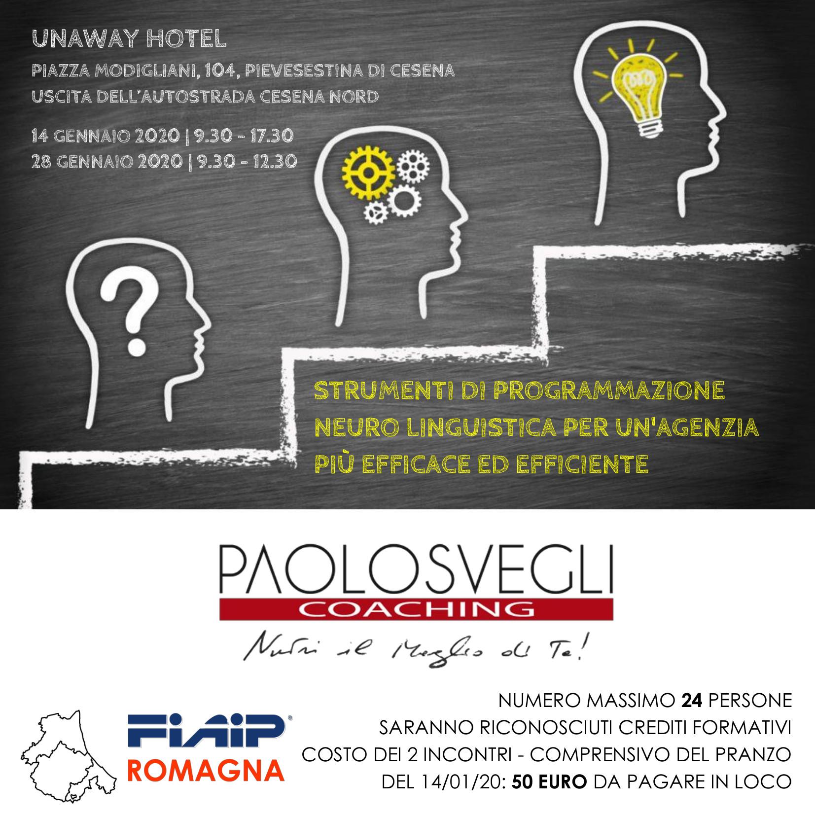 A Cesena Corso Fiaip 'PNL per un'Agenzia più efficace ed efficiente'