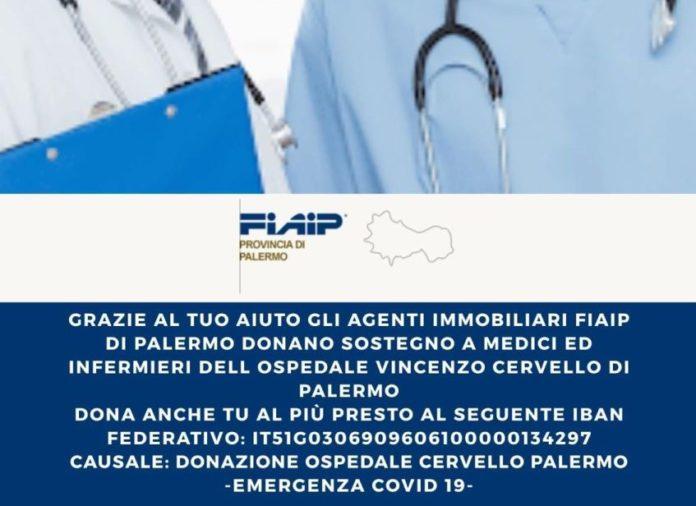 Emergenza #Coronavirus: Fiaip Palermo a sostegno dell'Ospedale Cervello