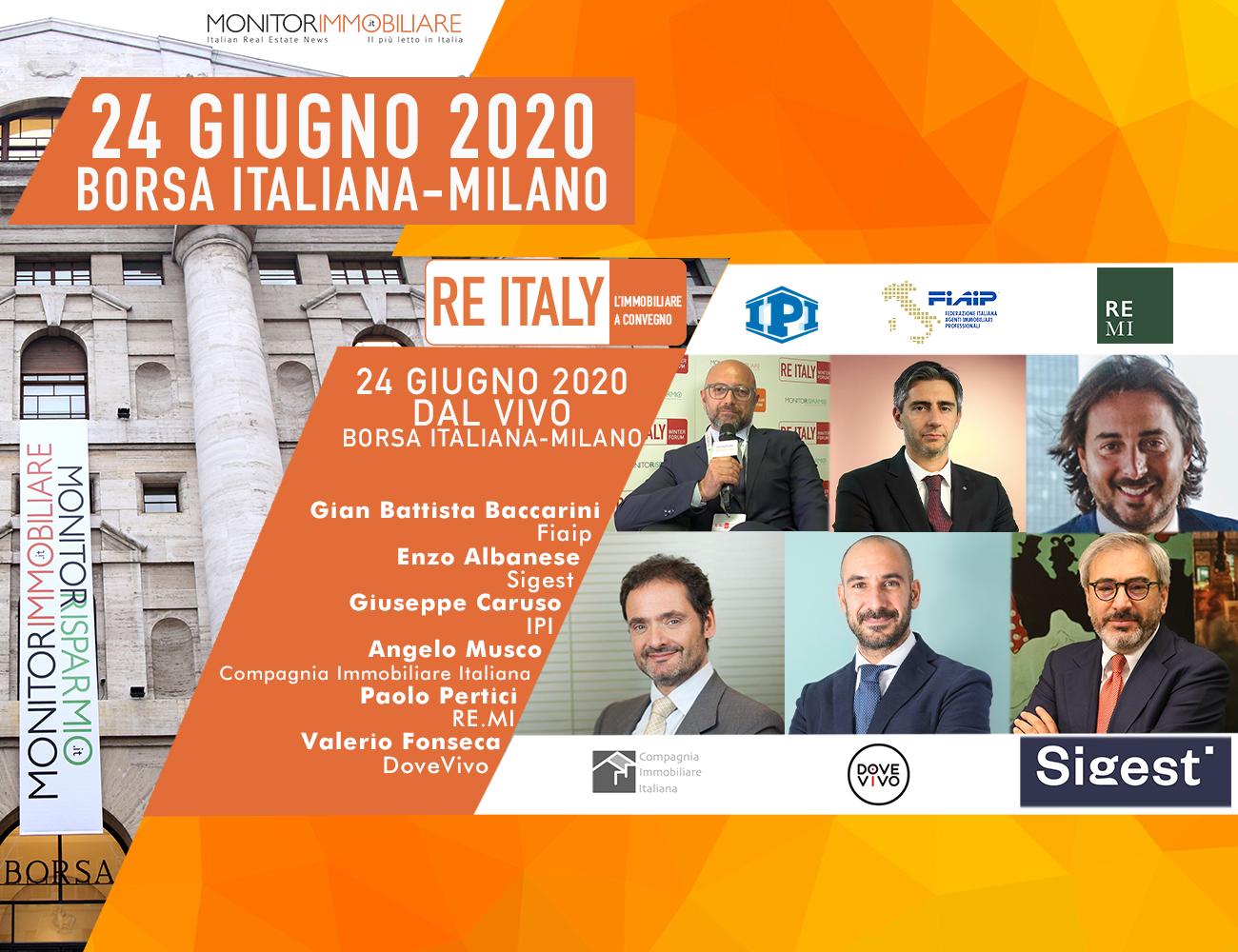 Immobiliare: Fiaip partecipa il 24 Giugno a 'Re Italy Convention Day 2020'