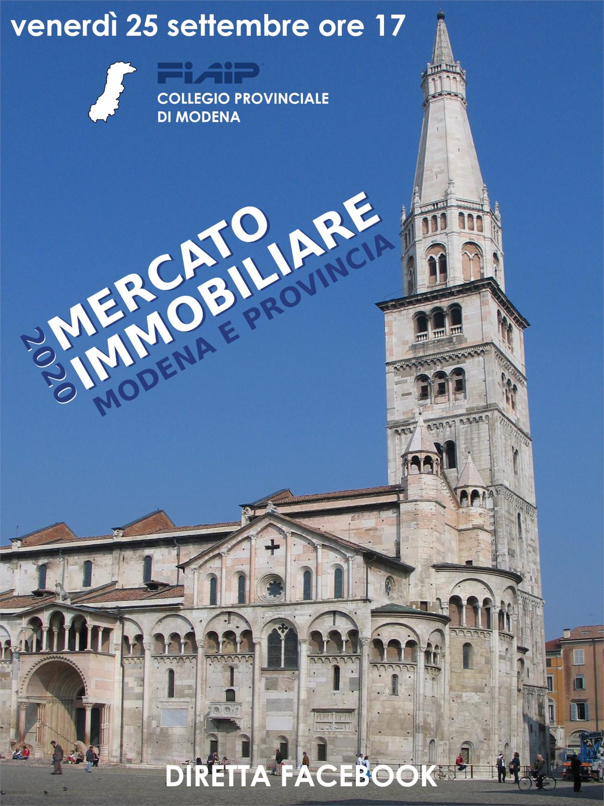 A Modena Fiaip presenta l'Osservatorio sul mercato immobiliare 2020