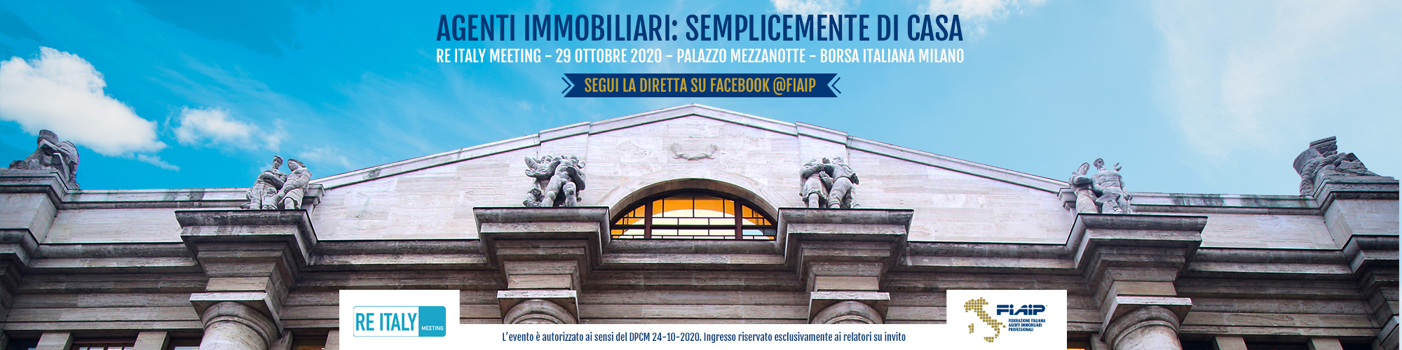 FIAIP: 'Agenti Immobiliari – Semplicemente di casa'  – RE ITALY Meeting, 29 ottobre 2020
