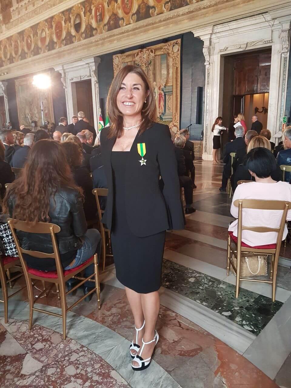 """""""Stella al Merito del Lavoro"""" a Rosalba Mascaro, Capo dell'Ufficio di Presidenza Nazionale FIAIP"""