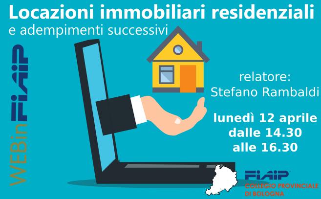 A Bologna webinar su Locazioni immobiliari residenziali