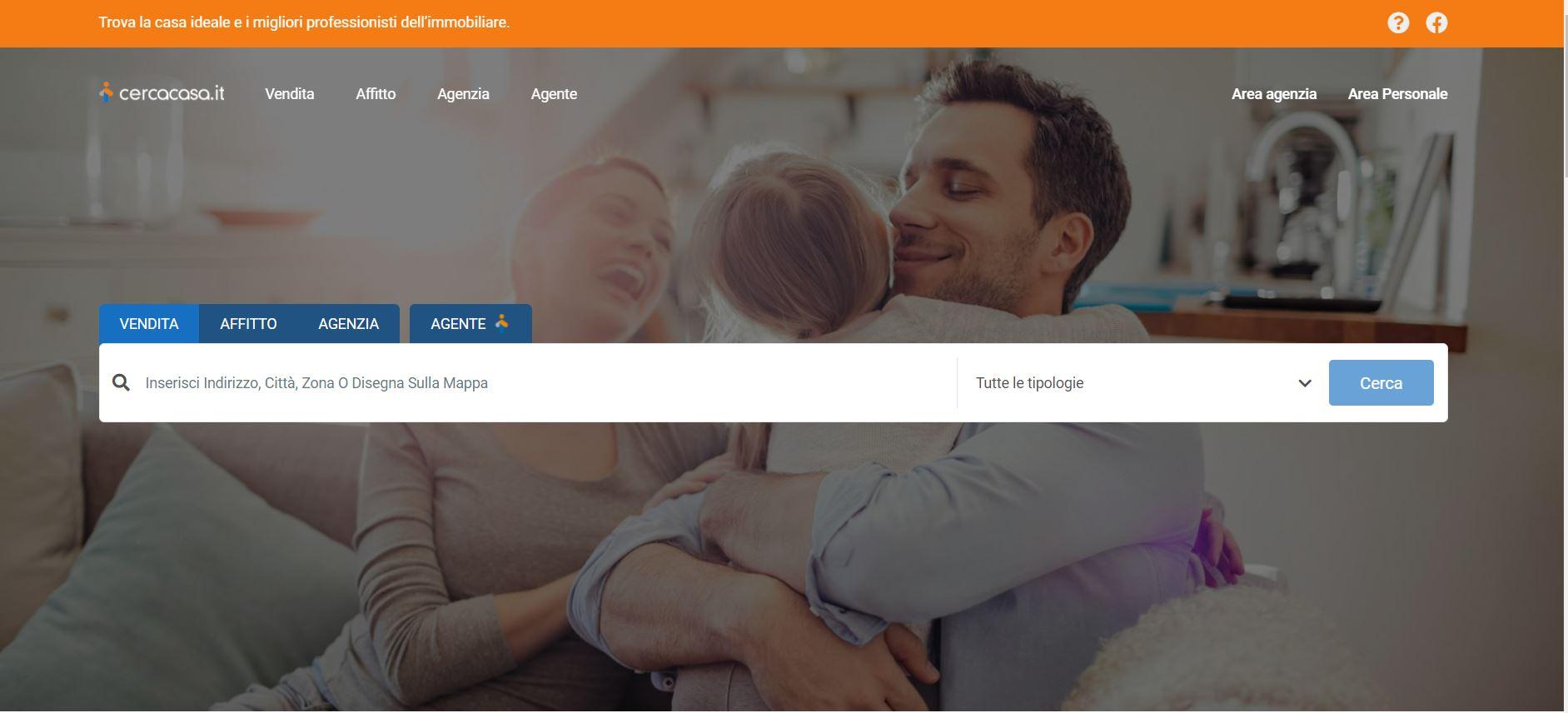 È online Cercacasa.it il sito per trovare la casa ideale eil miglior professionista immobiliare