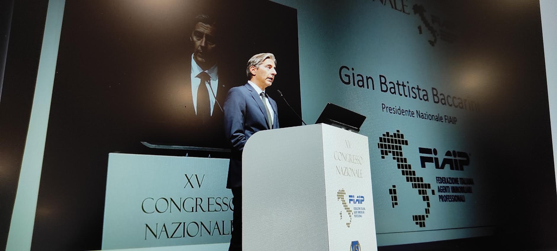 Immobiliare: Gian Battista Baccarini eletto al XV Congresso FIAIP a Bologna Presidente Nazionale
