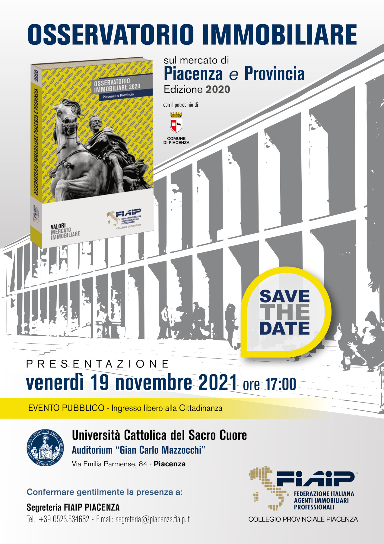 A Piacenza FIAIP presenta la nuova edizione dell'Osservatorio Immobiliare